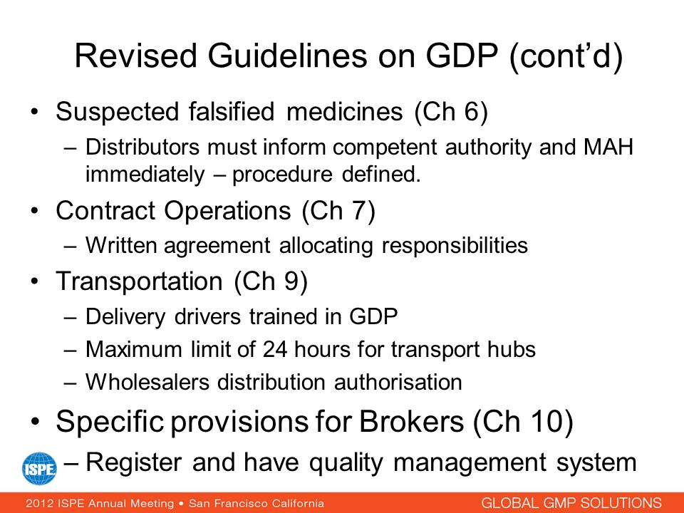 Revised Guidelines on GDP (cont'd)