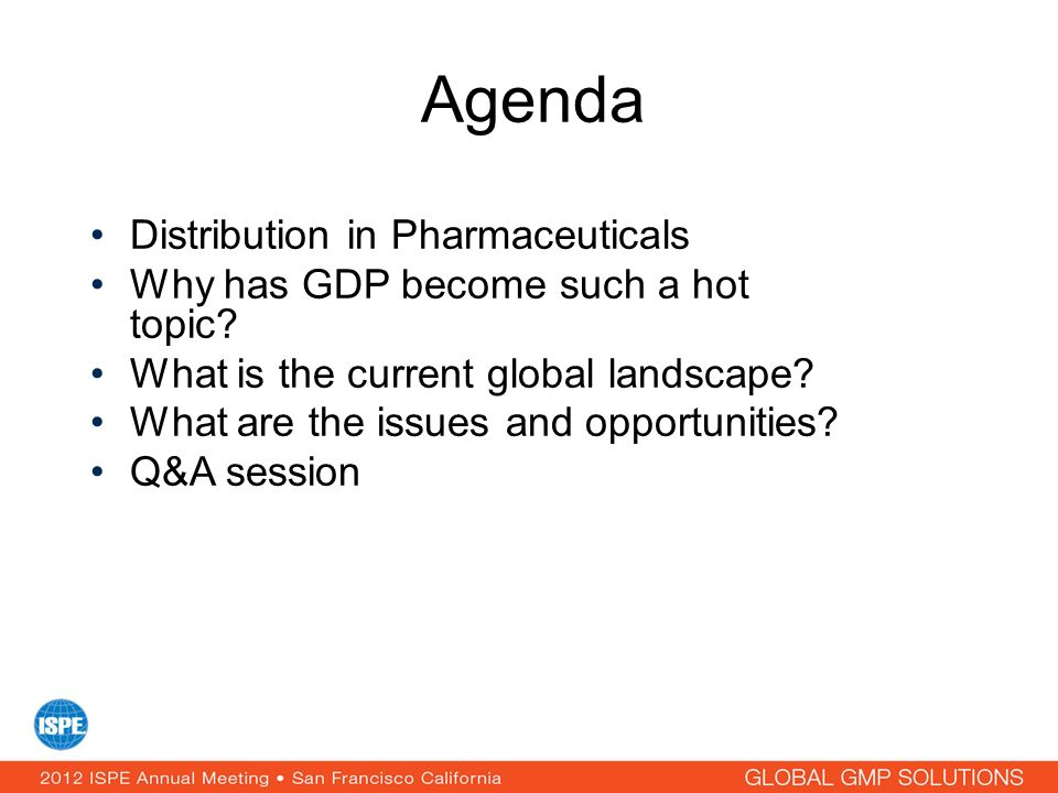 Agenda Distribution in Pharmaceuticals