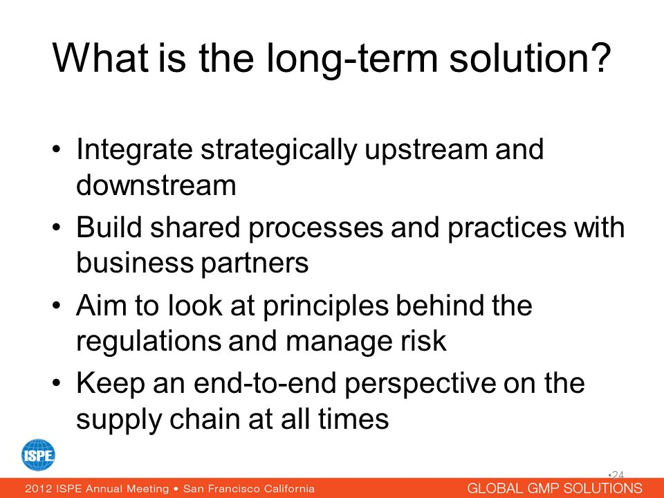 What is the long-term solution