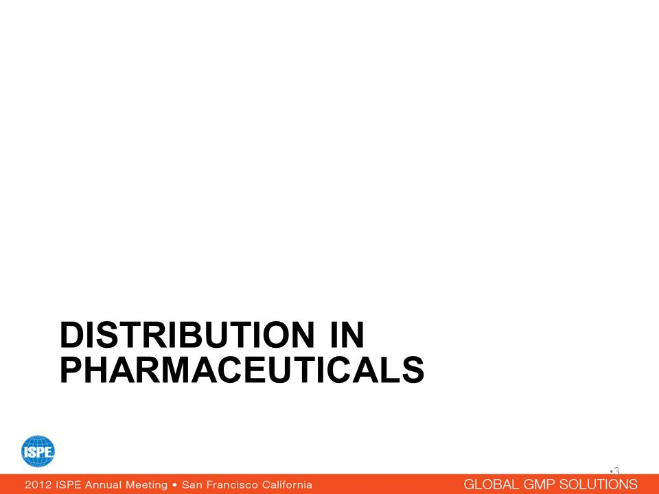 Distribution in Pharmaceuticals