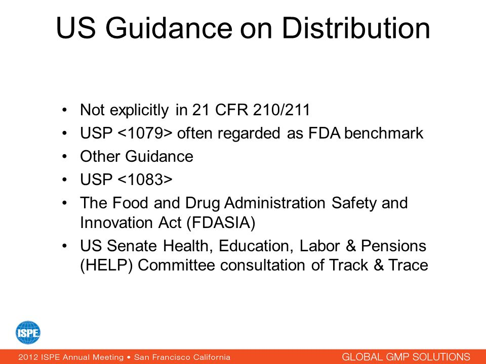 US Guidance on Distribution