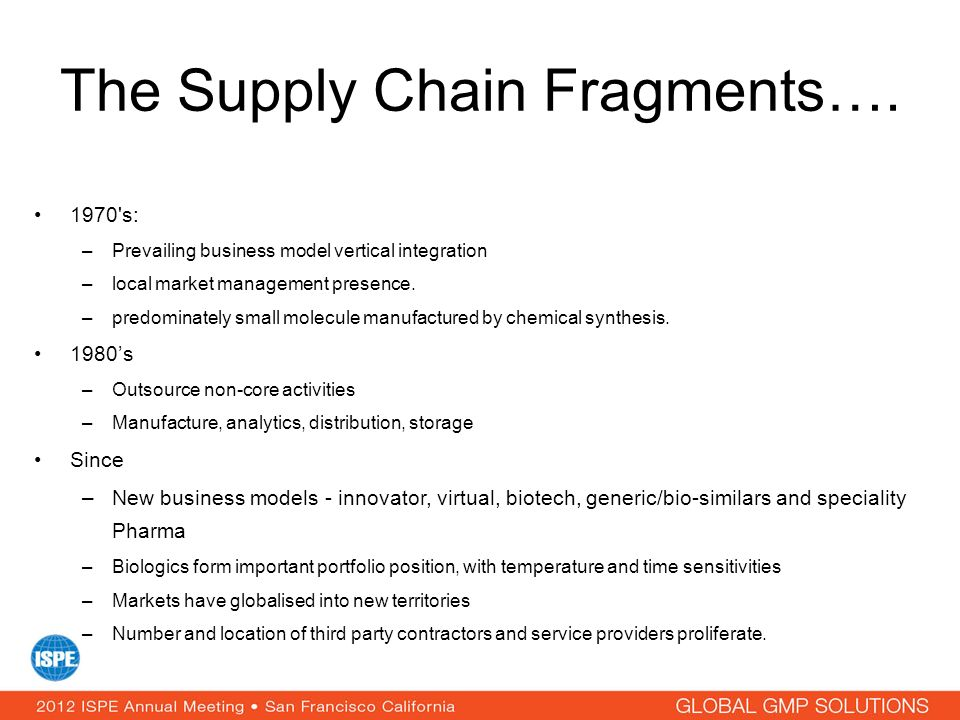The Supply Chain Fragments….