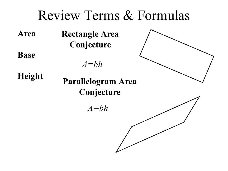 Review Terms & Formulas