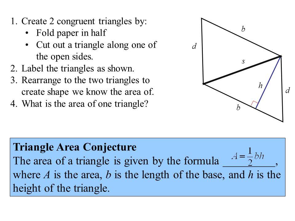 Triangle Area Conjecture