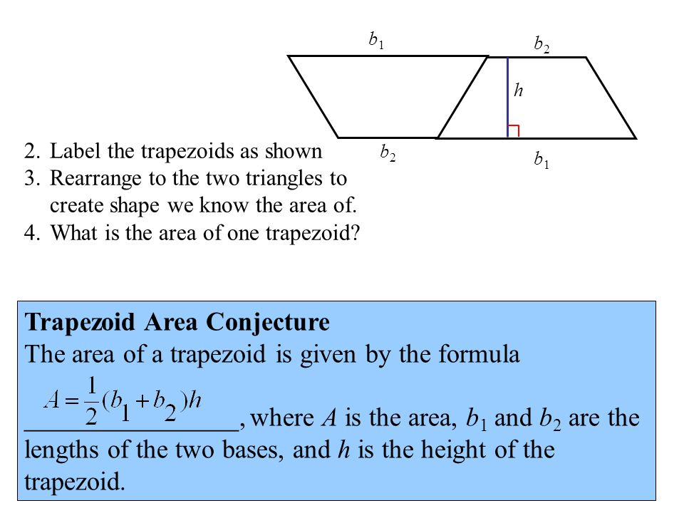 Trapezoid Area Conjecture
