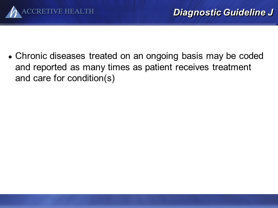 Diagnostic Guideline J