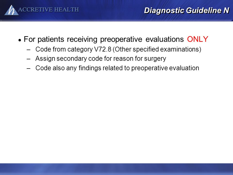 Diagnostic Guideline N