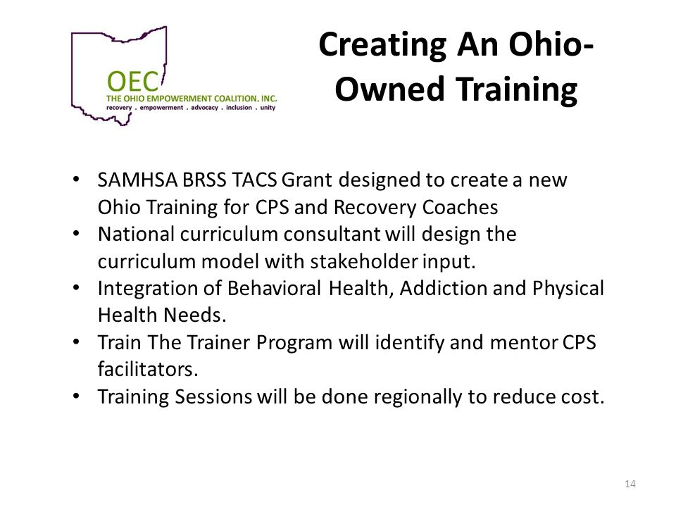 Creating An Ohio-Owned Training