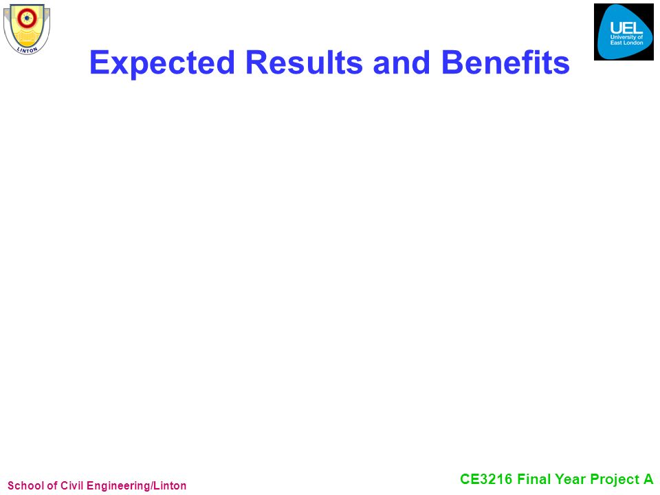 Expected Results and Benefits