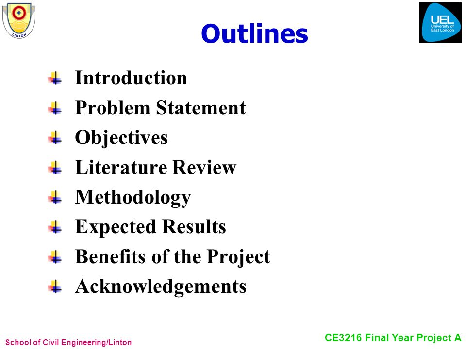 Outlines Introduction Problem Statement Objectives Literature Review