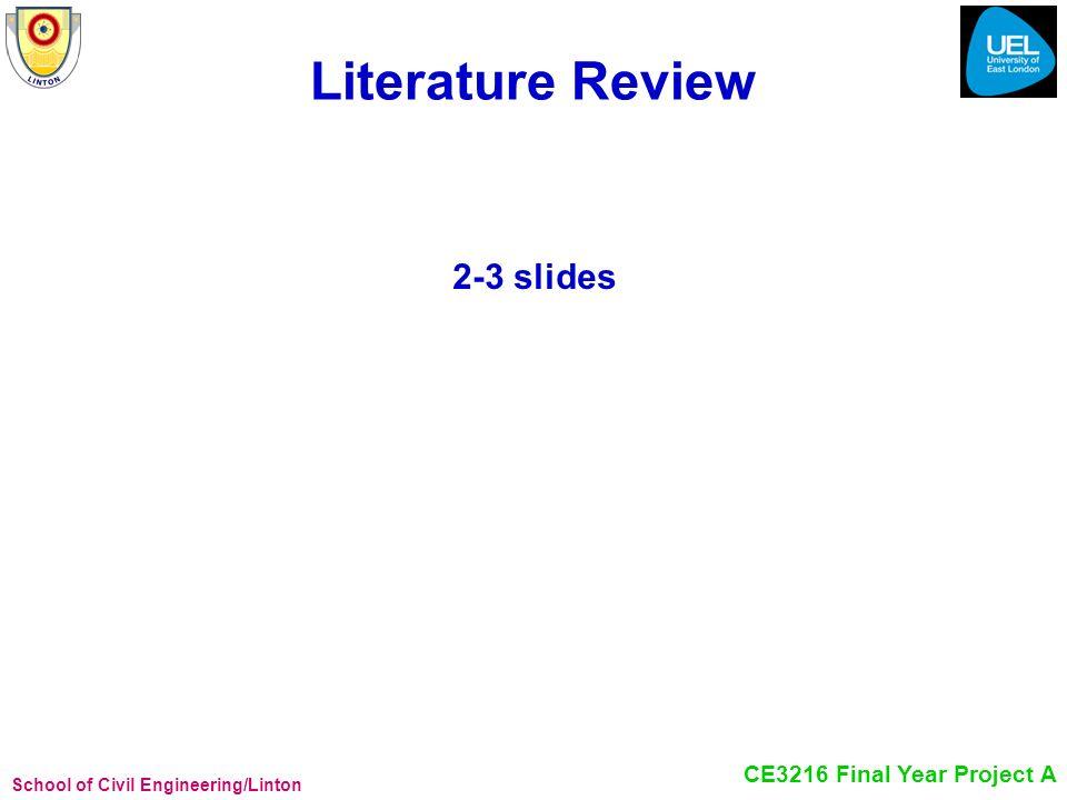 Literature Review 2-3 slides