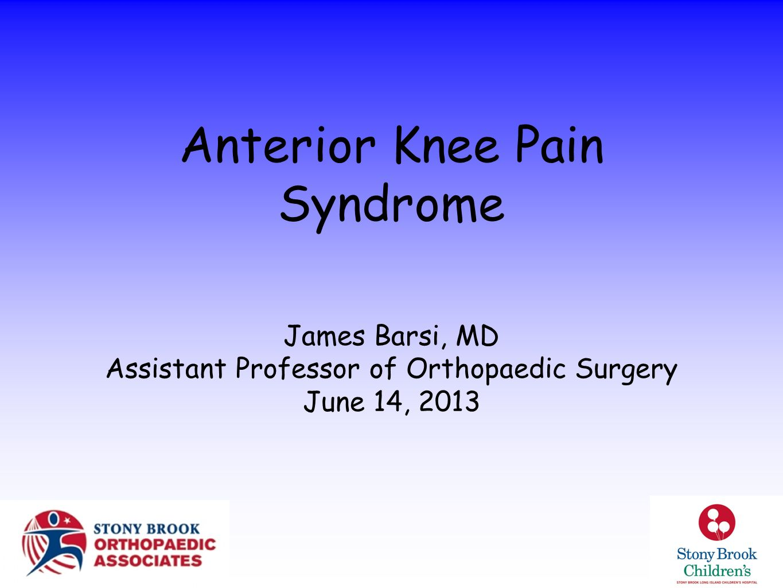 Anterior Knee Pain Syndrome