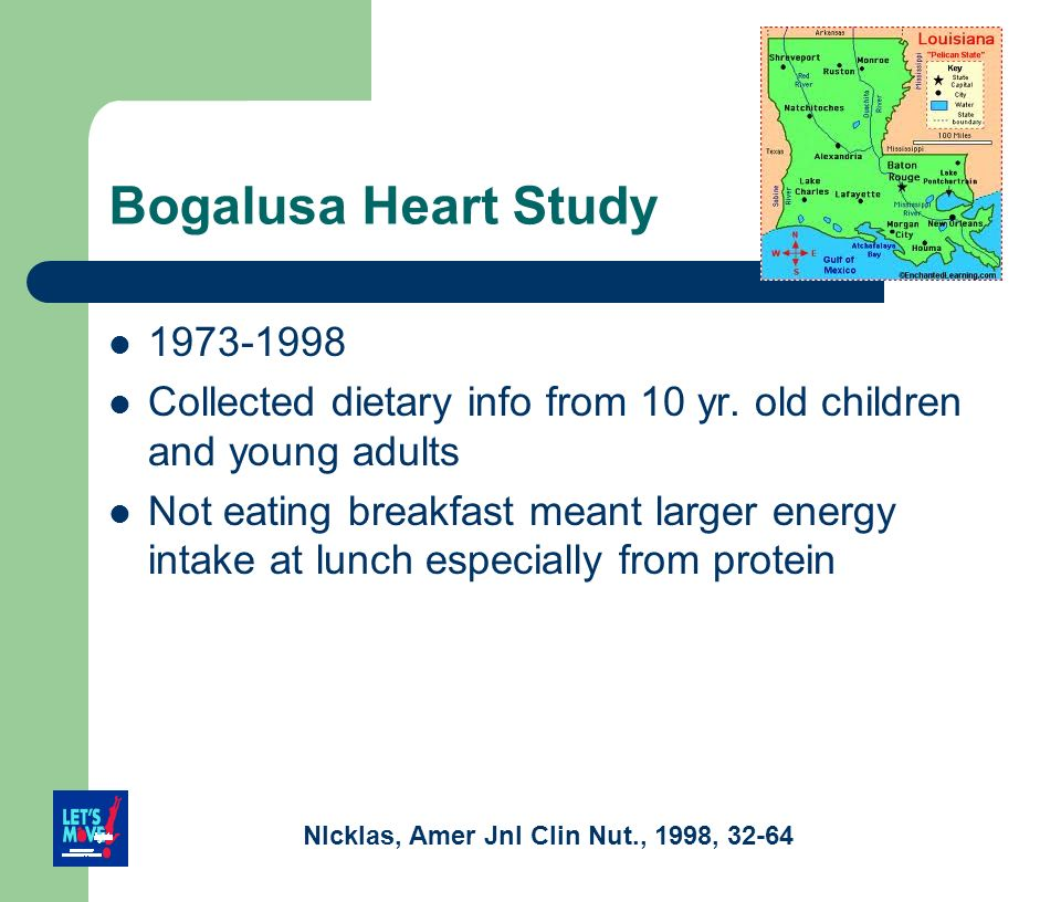 Bogalusa Heart Study 1973-1998. Collected dietary info from 10 yr. old children and young adults.