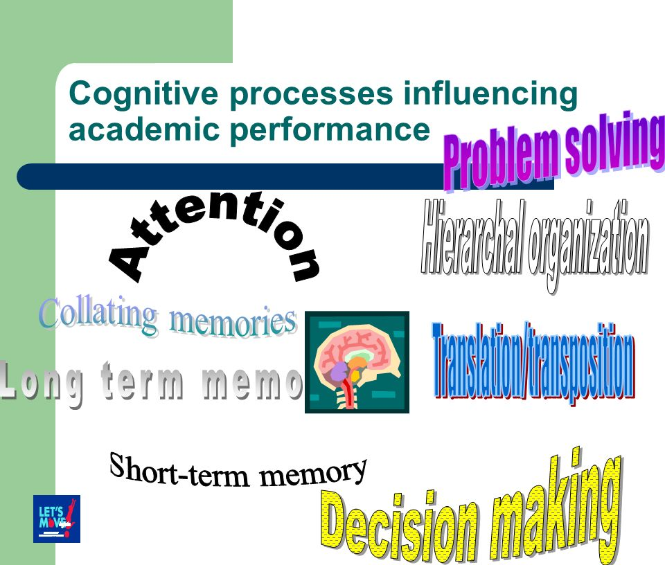 Cognitive processes influencing academic performance
