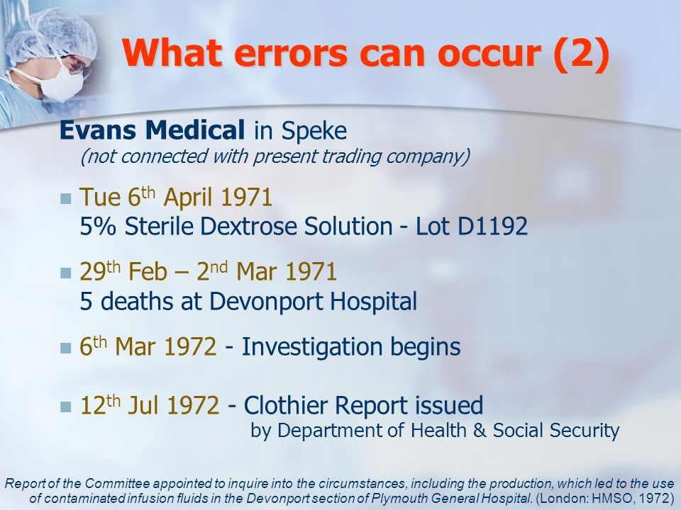 What errors can occur (2)