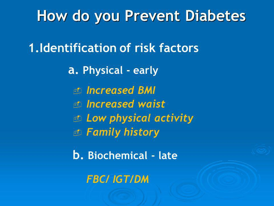 How do you Prevent Diabetes