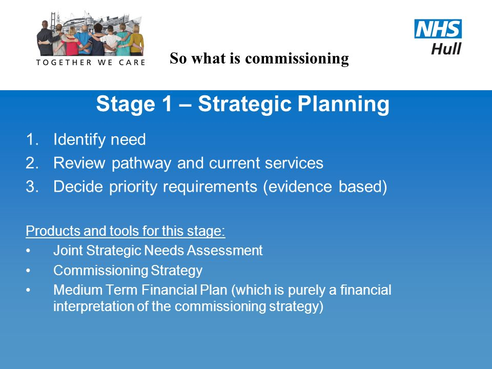 Stage 1 – Strategic Planning