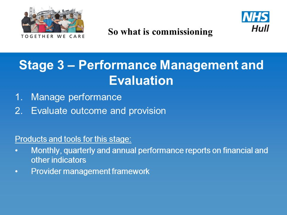 Stage 3 – Performance Management and Evaluation