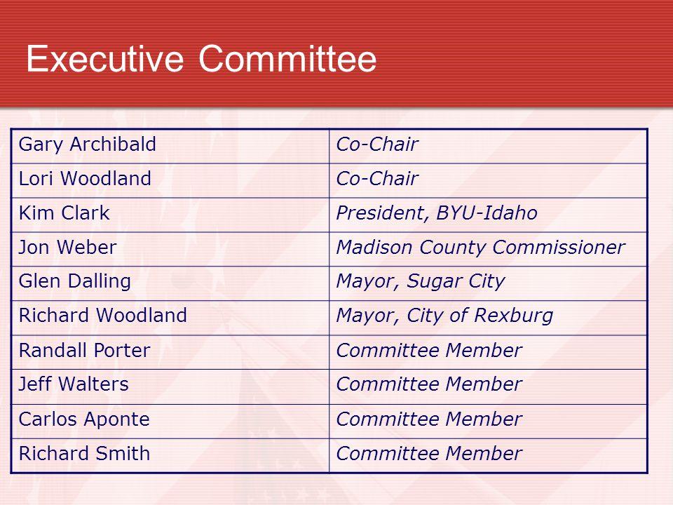 Executive Committee Gary Archibald Co-Chair Lori Woodland Kim Clark