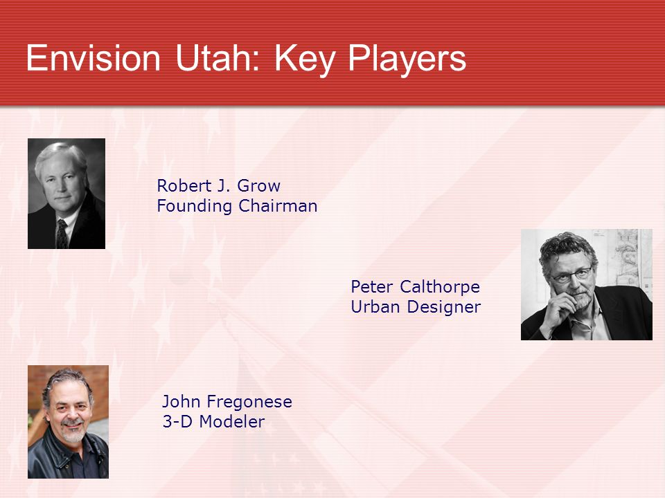 Envision Utah: Key Players