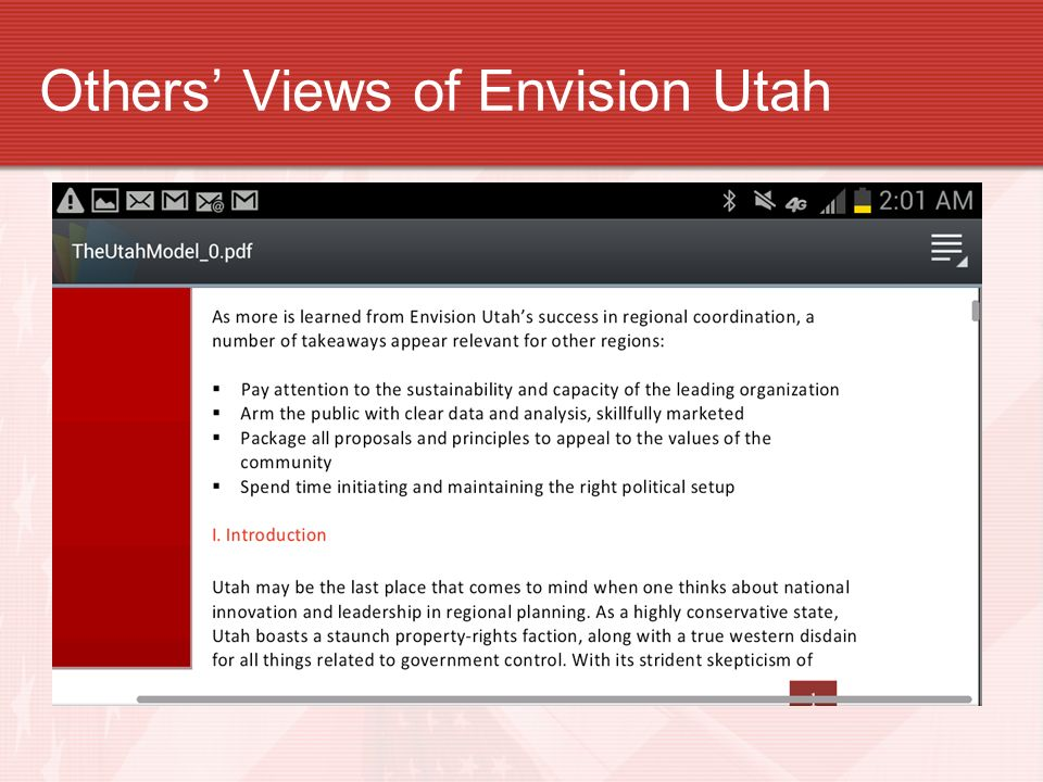 Others' Views of Envision Utah