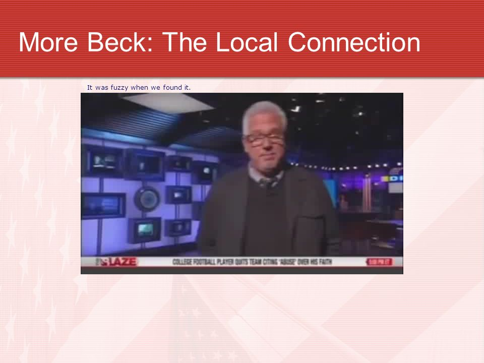 More Beck: The Local Connection