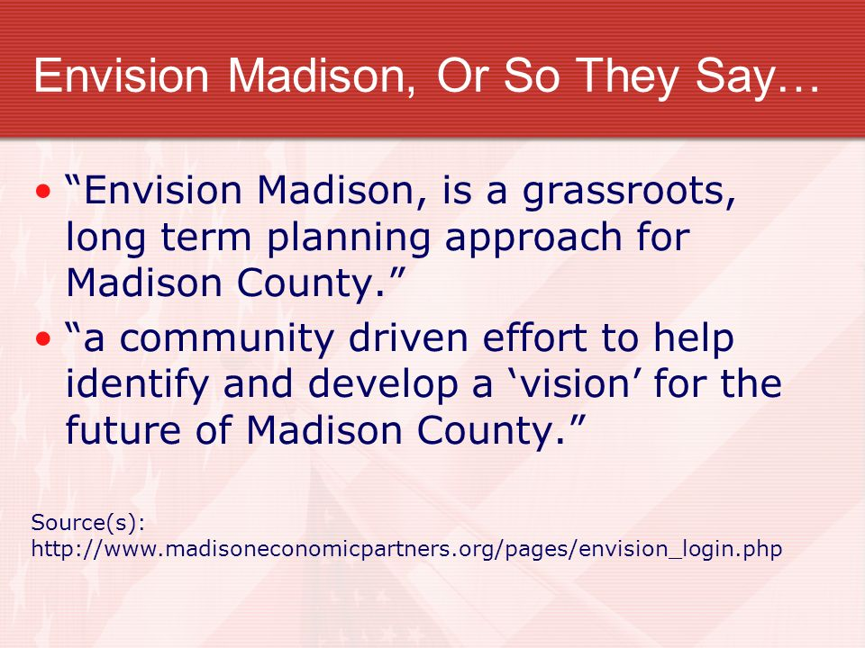 Envision Madison, Or So They Say…