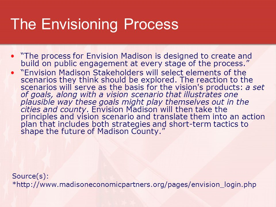 The Envisioning Process