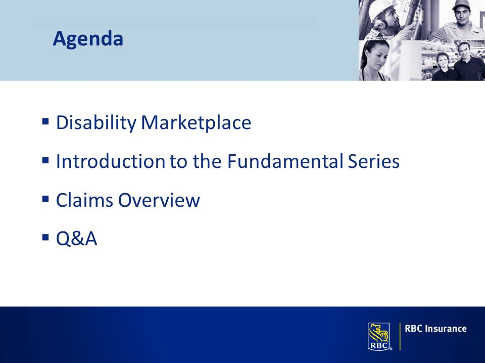 Agenda Disability Marketplace Introduction to the Fundamental Series