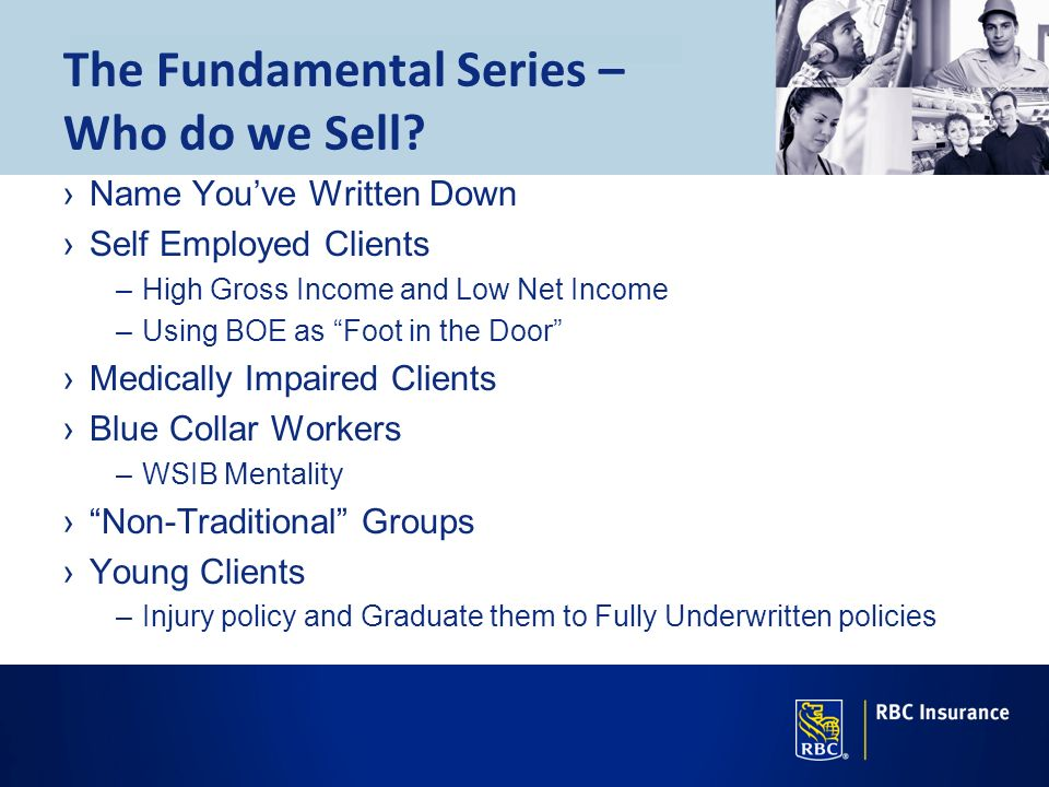 The Fundamental Series – Who do we Sell