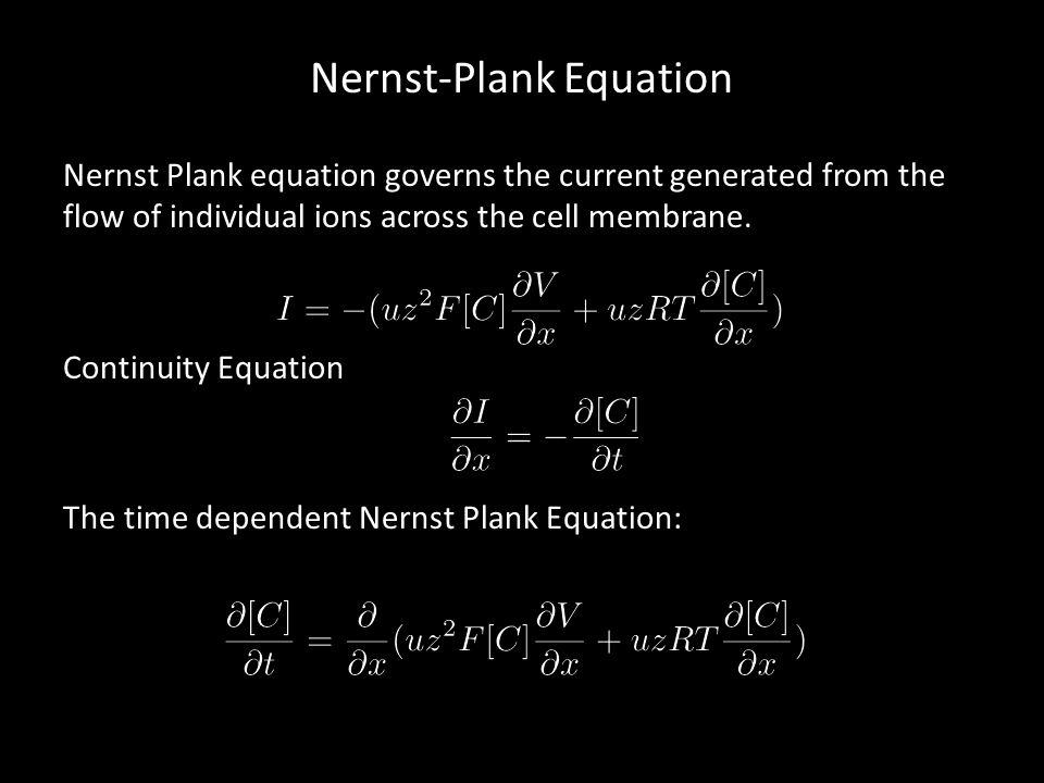 Nernst-Plank Equation