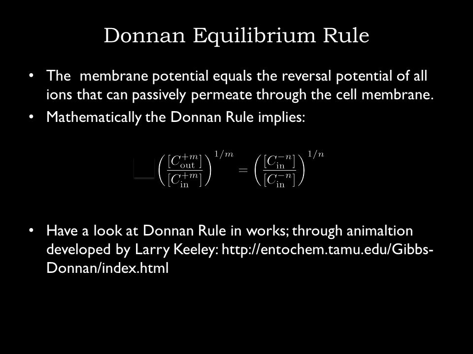 Donnan Equilibrium Rule