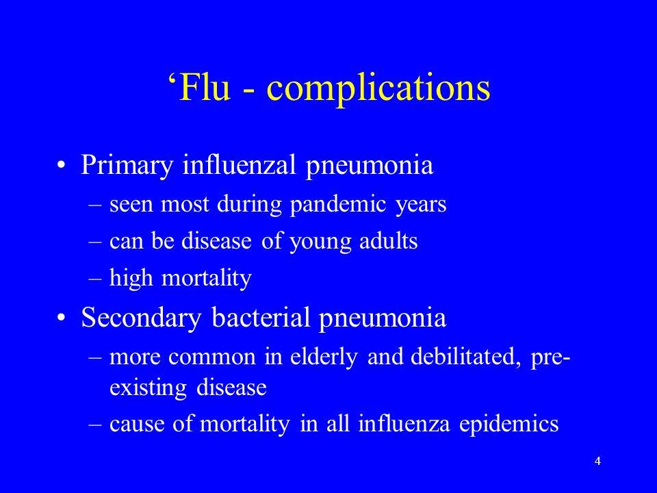 'Flu - complications Primary influenzal pneumonia