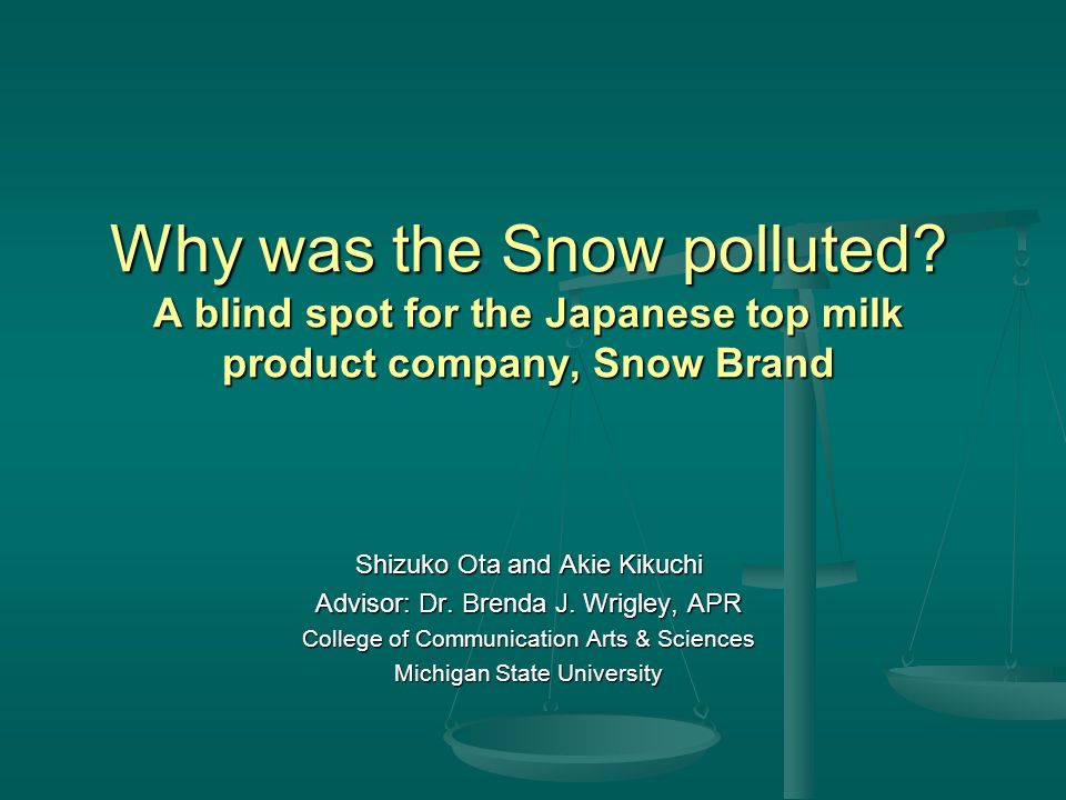 Why was the Snow polluted