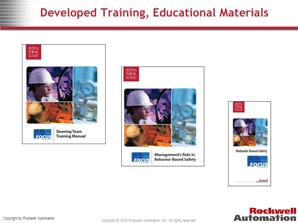 Developed Training, Educational Materials