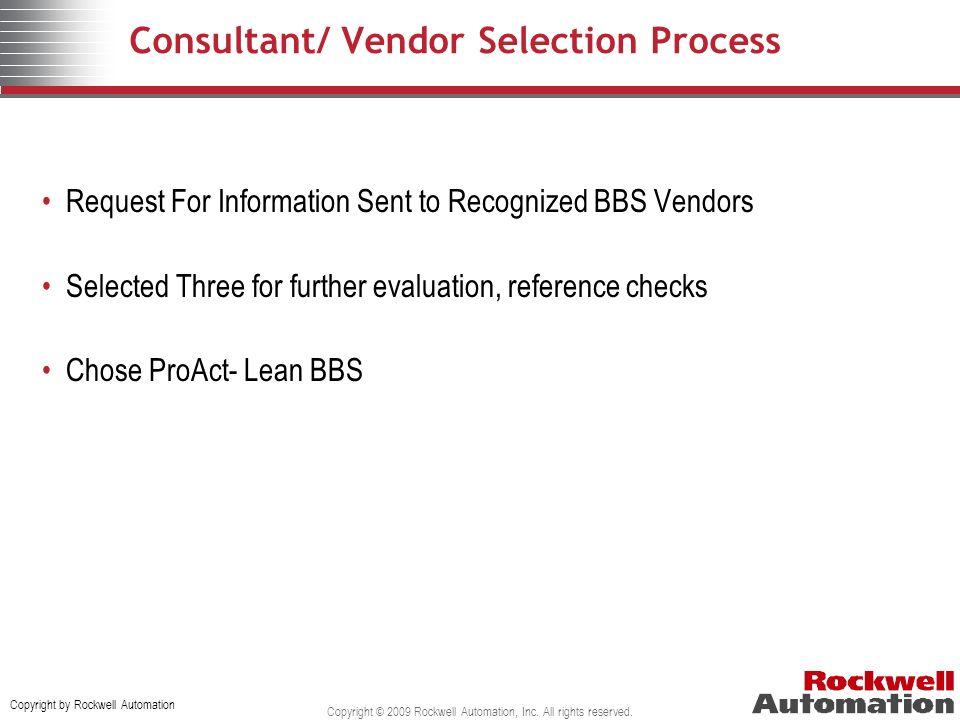 Consultant/ Vendor Selection Process