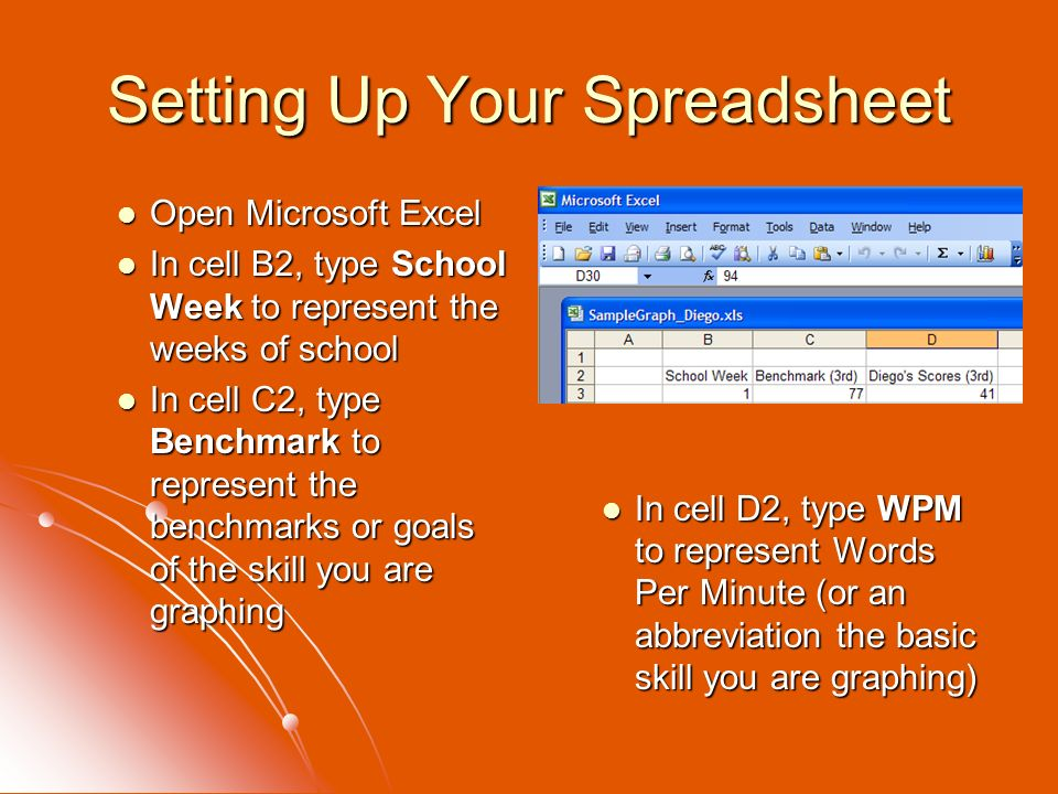 Setting Up Your Spreadsheet