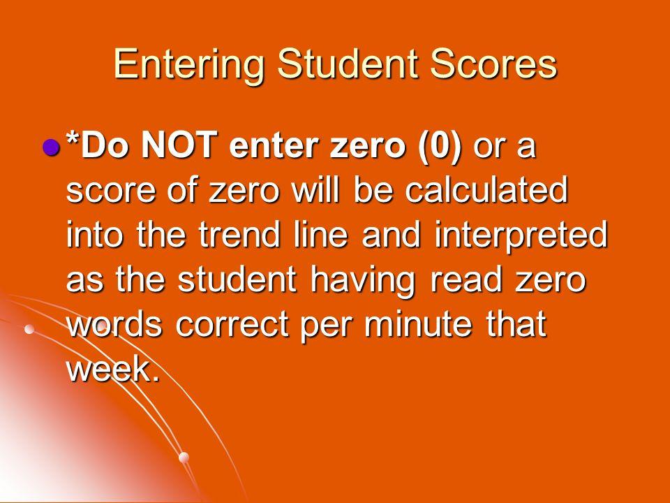 Entering Student Scores