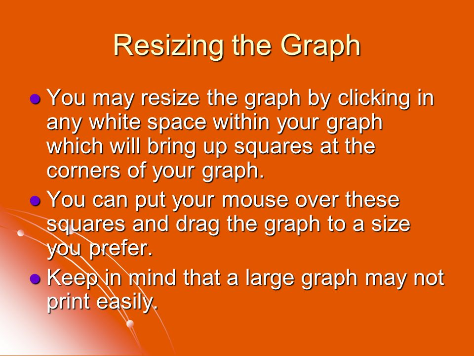 Resizing the Graph