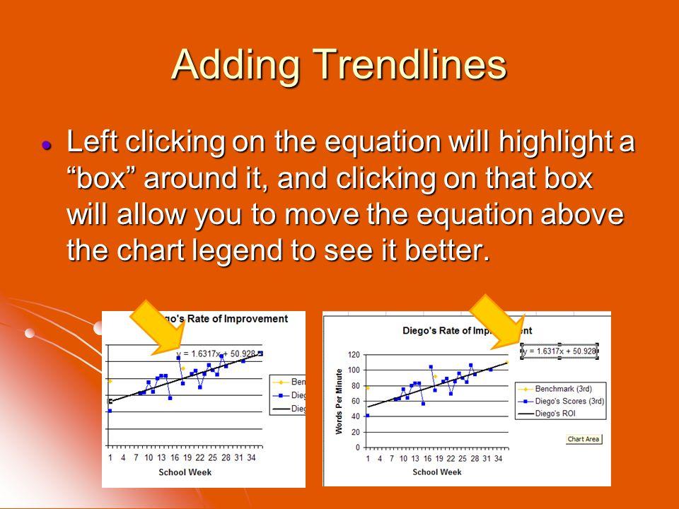 Adding Trendlines
