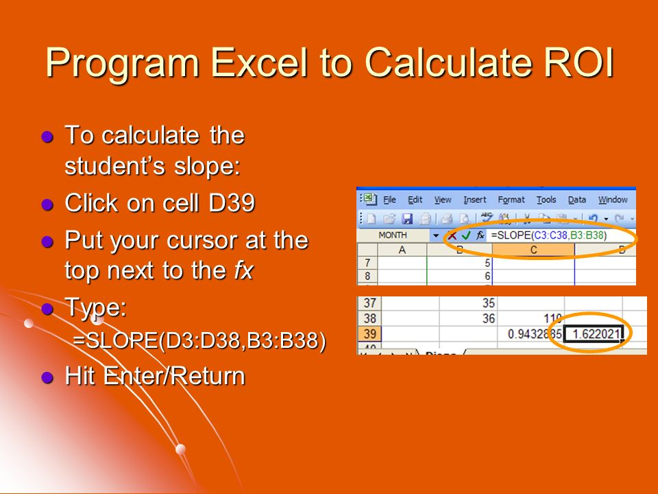 Program Excel to Calculate ROI