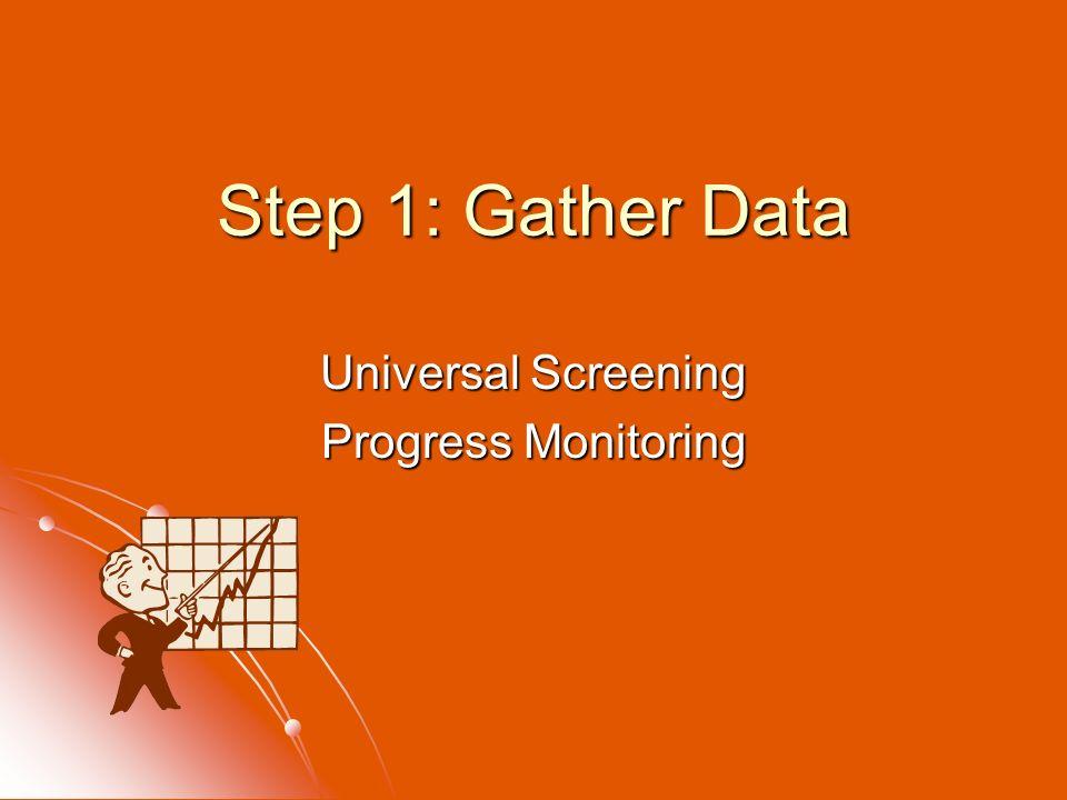 Universal Screening Progress Monitoring