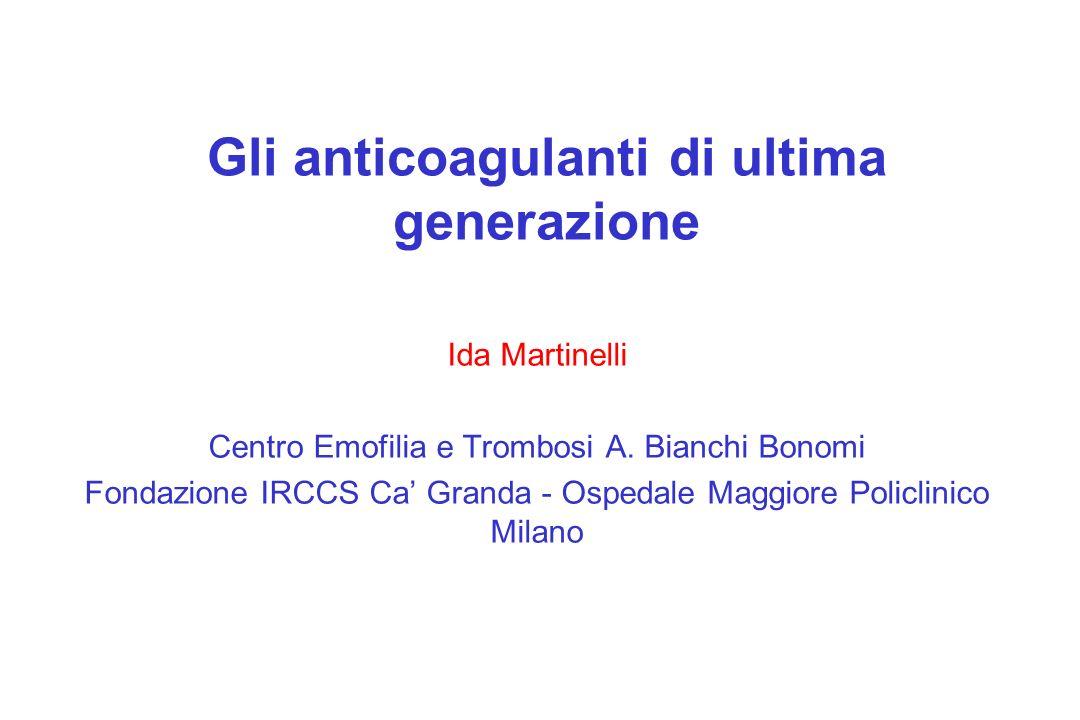 Gli anticoagulanti di ultima generazione