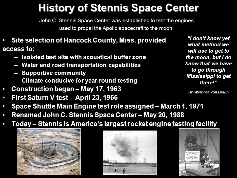 History of Stennis Space Center
