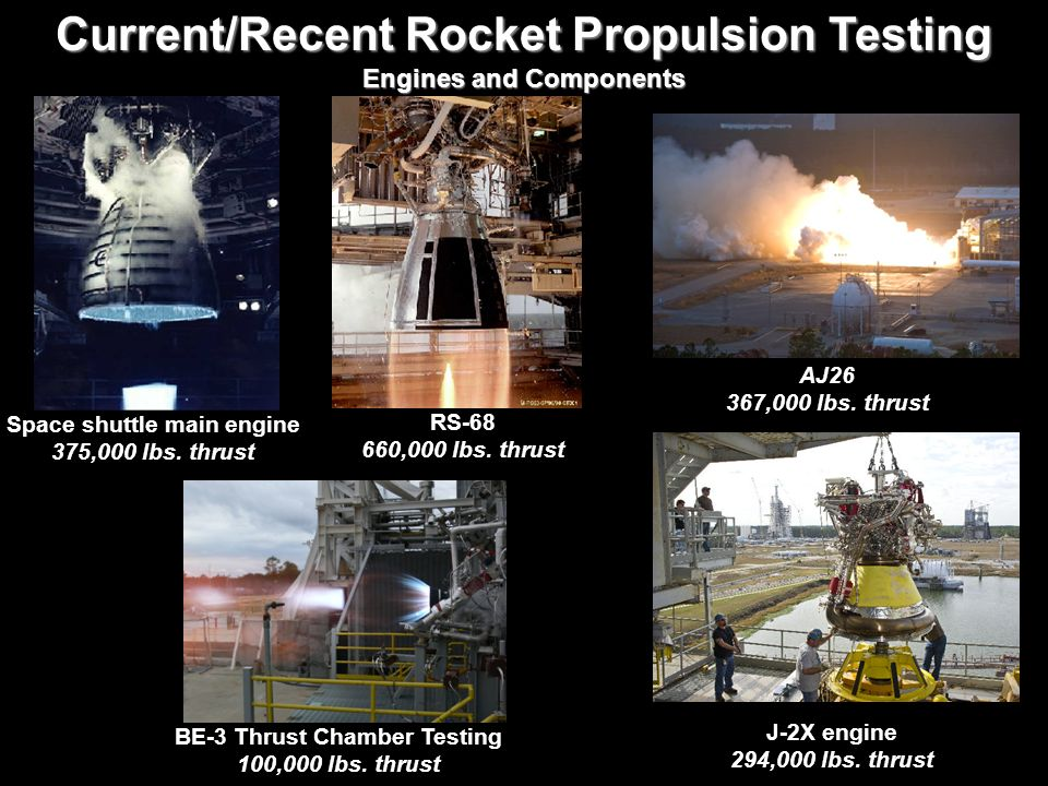 Current/Recent Rocket Propulsion Testing
