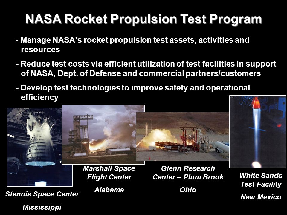 NASA Rocket Propulsion Test Program