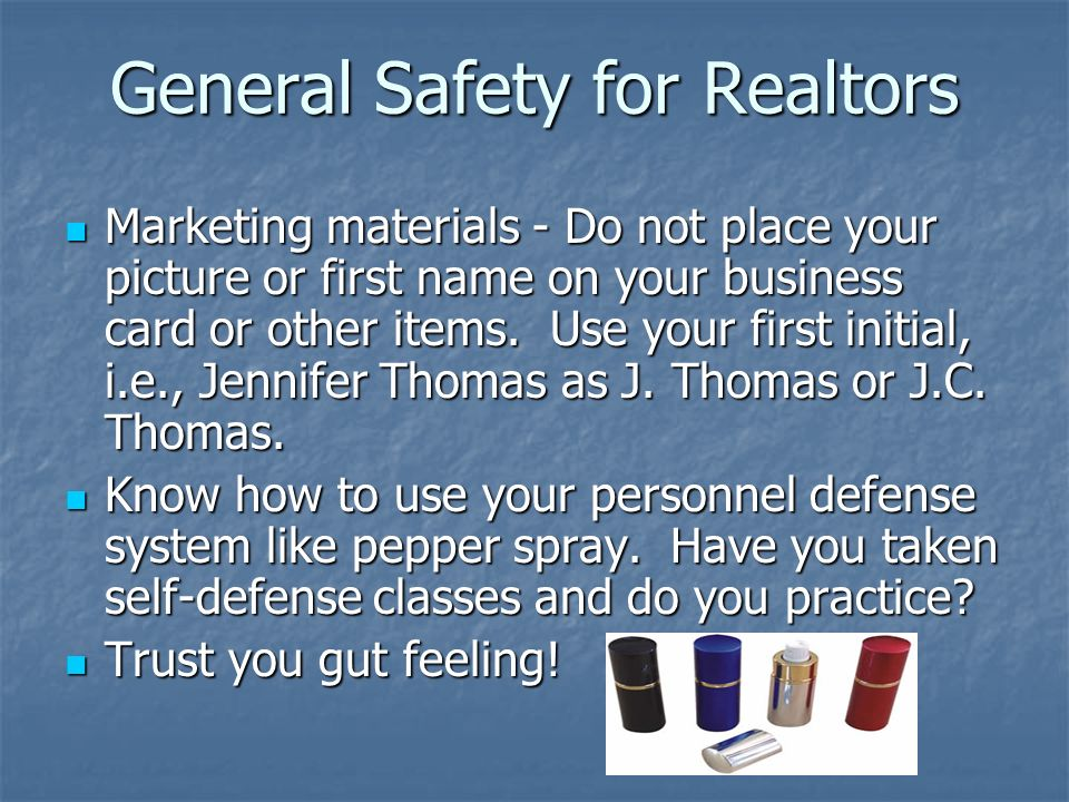 General Safety for Realtors