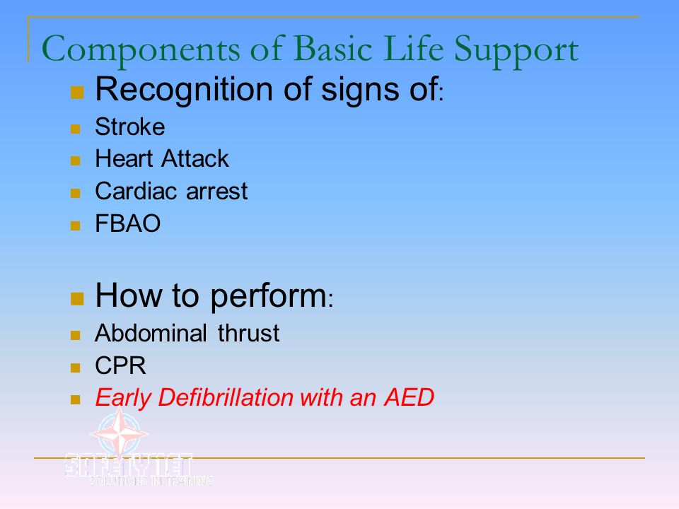 Components of Basic Life Support