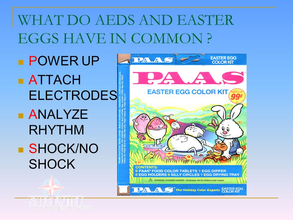 WHAT DO AEDS AND EASTER EGGS HAVE IN COMMON