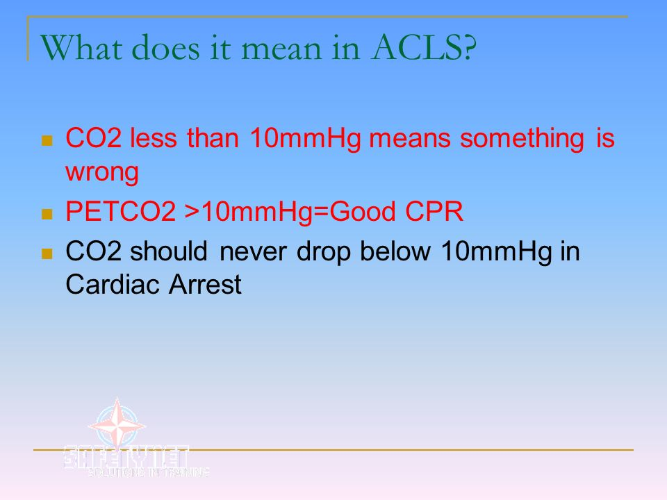 What does it mean in ACLS